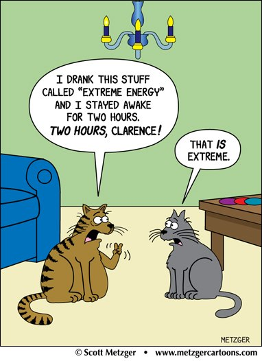 Cat Extreme Energy Cartoon