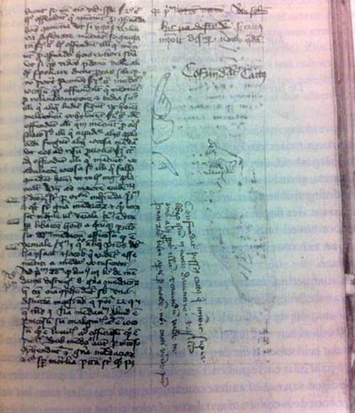 Cat Pee on a 15th Century Manuscript