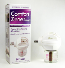 Comfort Zone with Feliway diffuser plug-in at CatFaeries.com